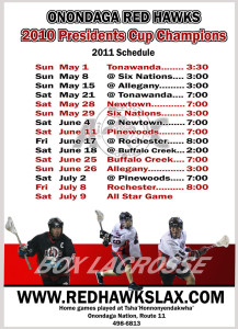 2011 Mens and Minor Lacrosse Schedule