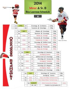 2014 Redhawk Schedule