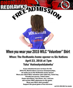 Free Admission with WILC Volunteer T